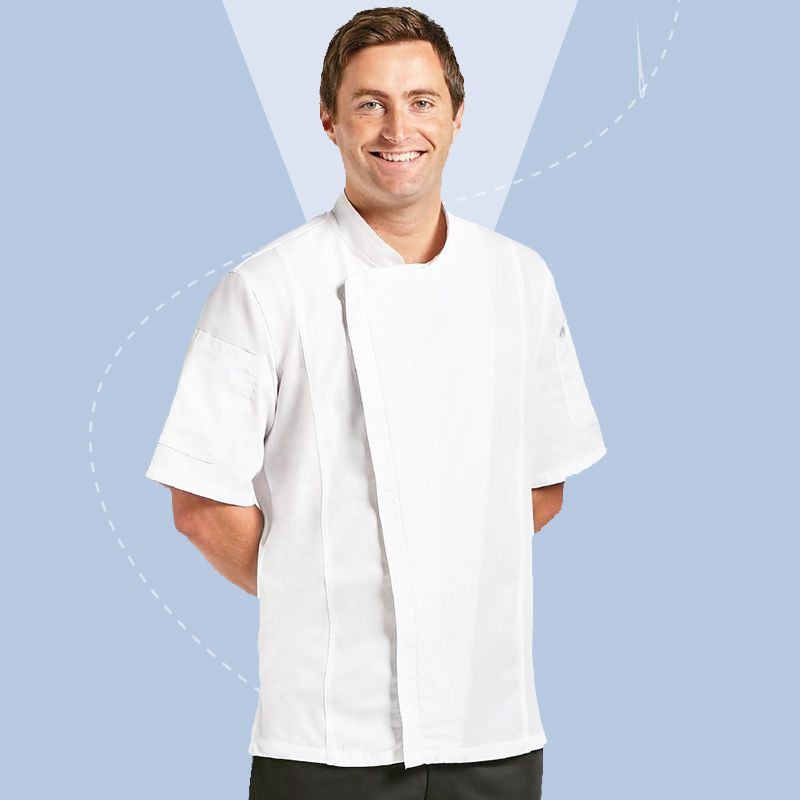 Chef Works Mens Short Sleeve Springfield Chef Jacket