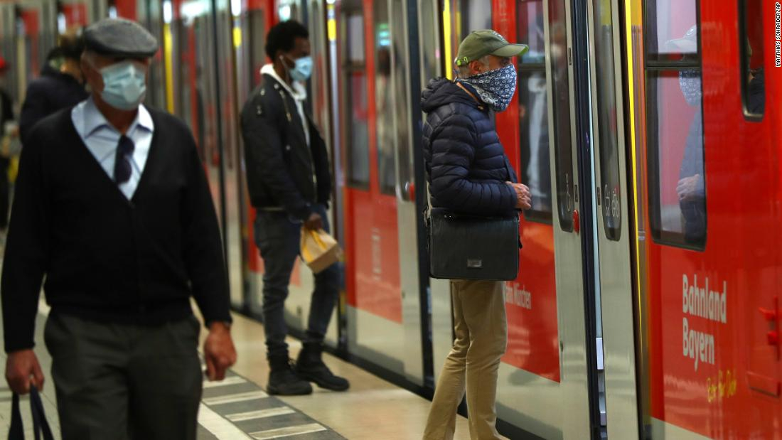 Face Masks and German Public Transport