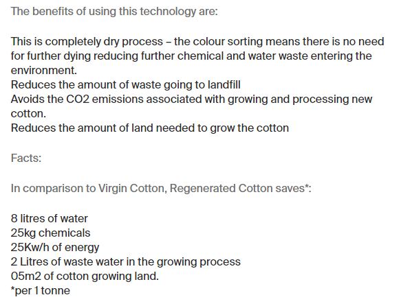 Ecologie Fabric Benefits