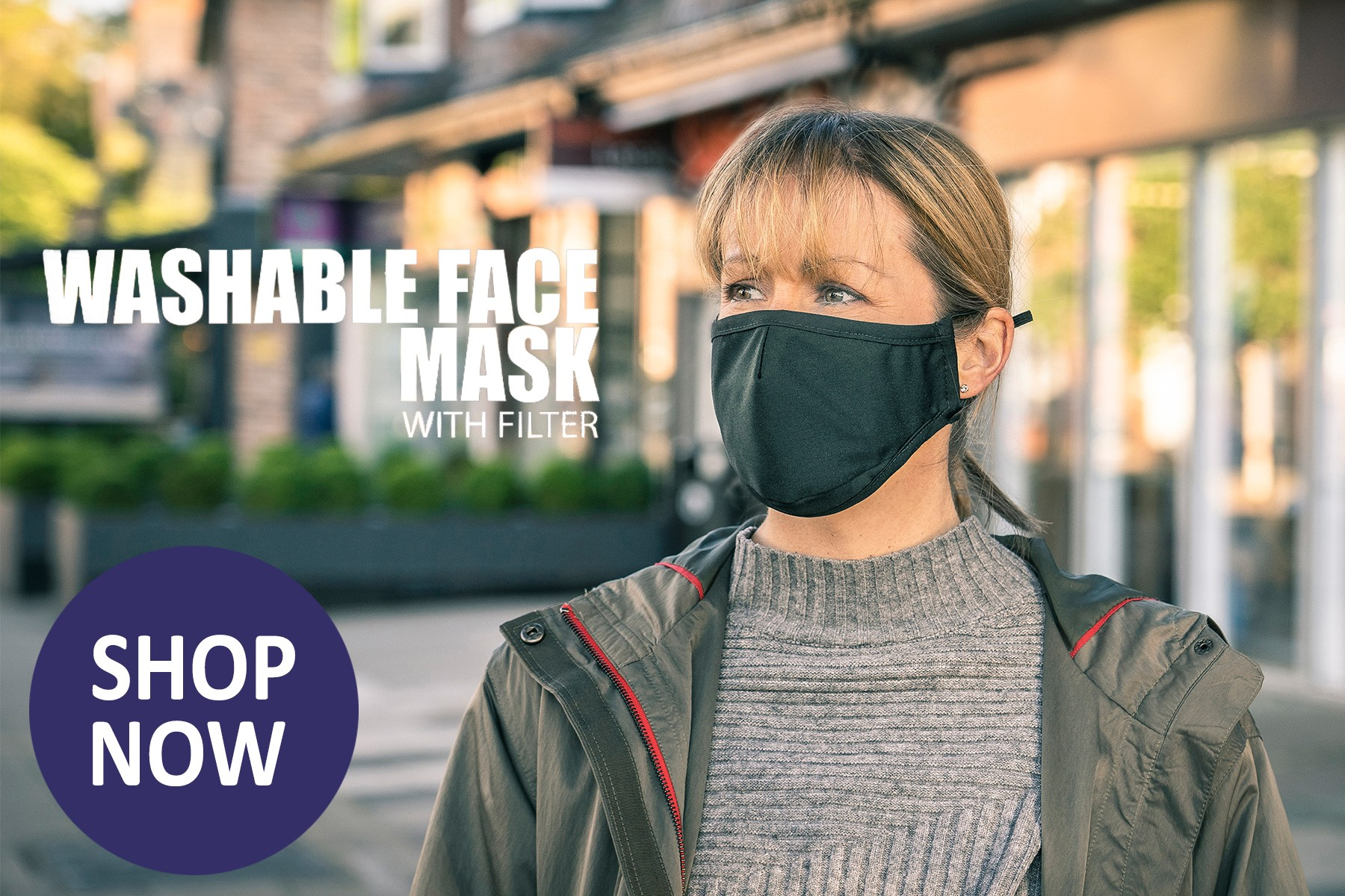 Shop Now for Wearable Fask Mask with filter